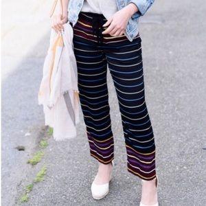 Loft fluid striped pants silky NEW Medium Petite E